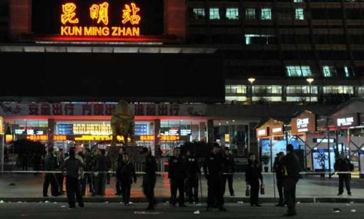 china blames islamic militants for kunming attack 33 killed