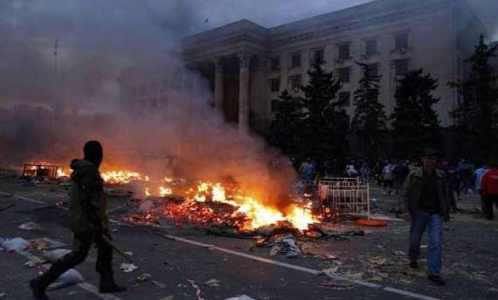 43 killed in clashes in ukraine s odessa