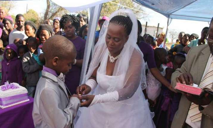 9 year old boy marries 62 year old woman in south africa