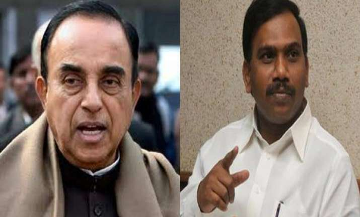 2g scam subramanian swamy seeks copy of a raja s statement