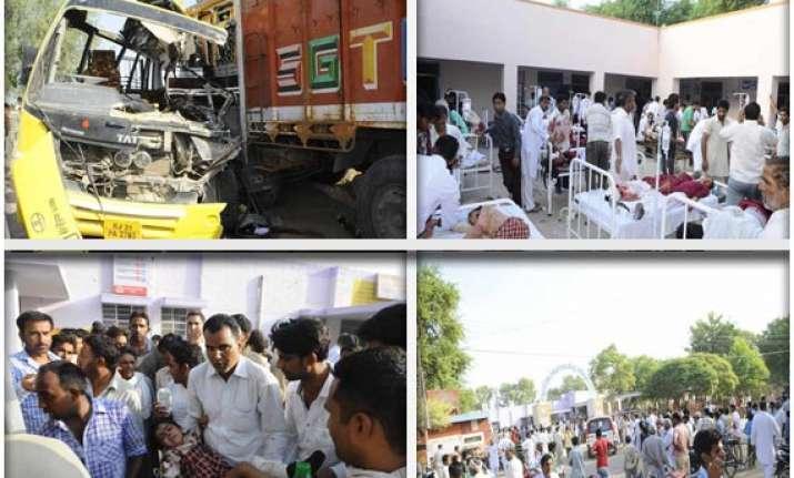 11 school children killed in road mishap watch pics