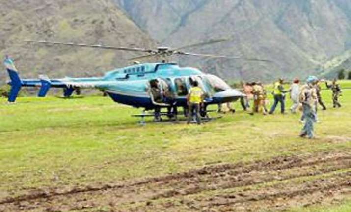 ap govt hires chopper to airlift pilgrims from uttarakhand