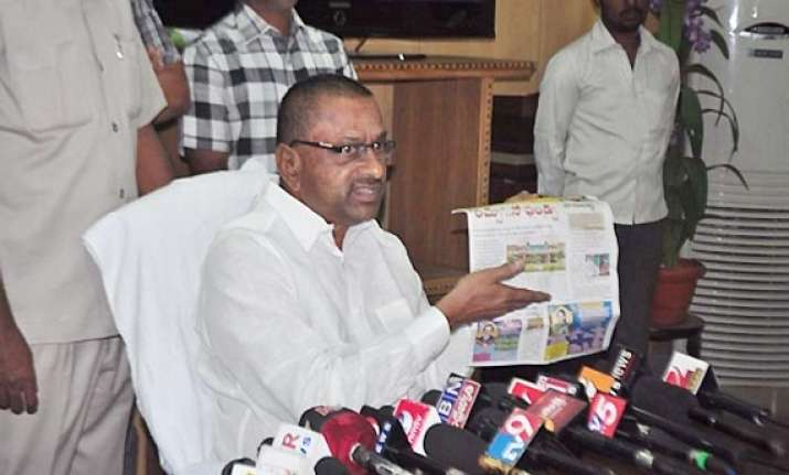 ap health minister ravindra reddy sacked