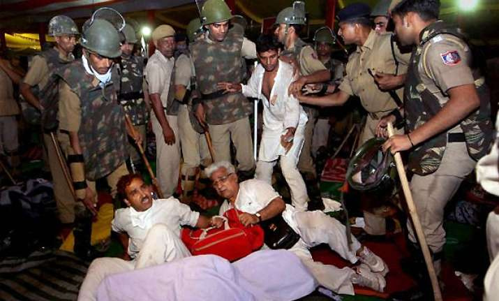 action against police involved in ramlila ground crackdown