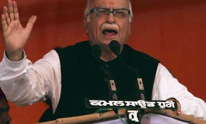 advani faces slogan shouting crowds in amritsar