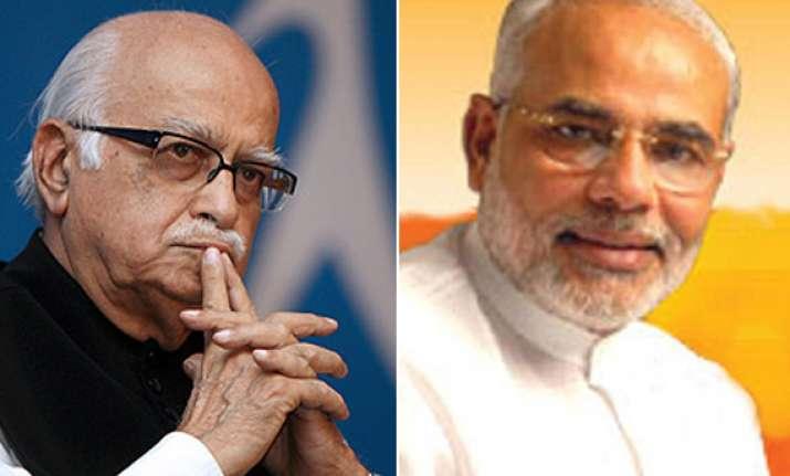 advani non committal on modi s campaign in up
