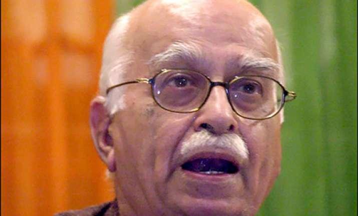 advani says defeat on constitutional amendment bill shameful