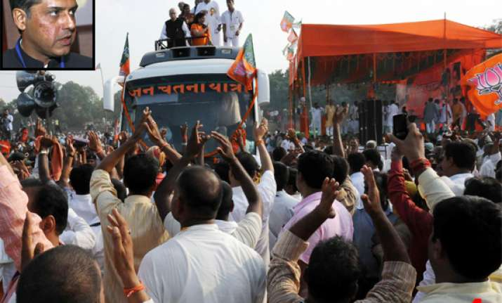 advani should take his yatra to karnataka says congress