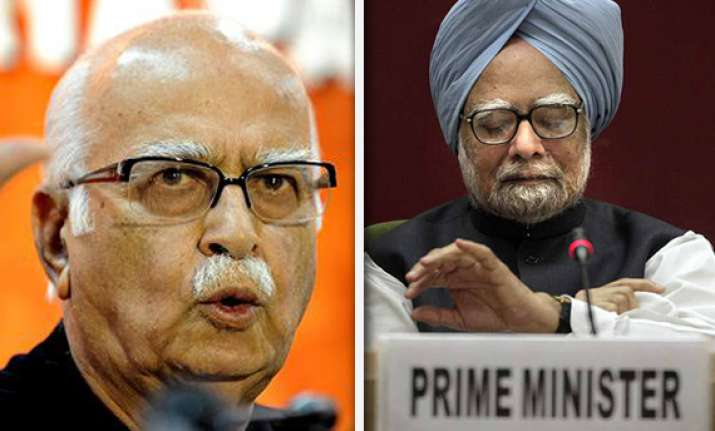 advani targets pm says he s presiding over most corrupt govt