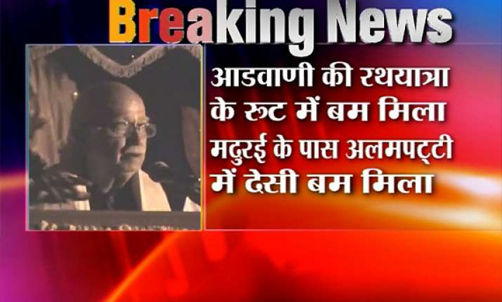 powerful pipe bomb defused ahead of advani s yatra