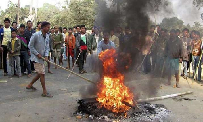 after telangana violence in assam over 10 injured