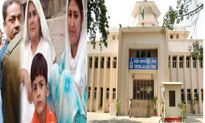 afzal guru s family hasn t yet approached tihar authorities