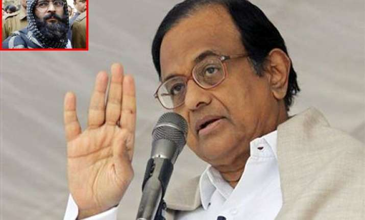 afzal guru s case not yet sent to president chidambaram