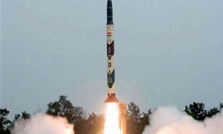 agni i missile test fired