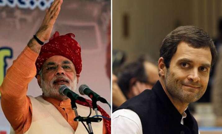 ahead of modi s visit to amethi rahul holds roadshow
