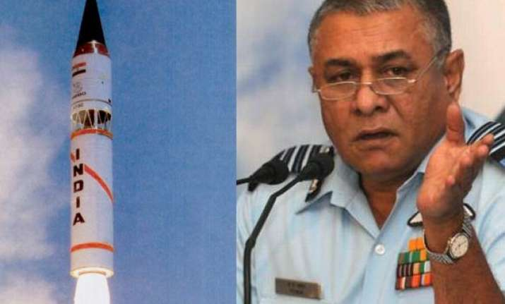 air chief wants india to flex missile power