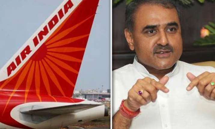 air india deployed bigger aircraft for praful patel s family