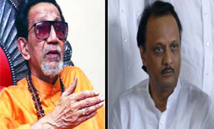 ajit pawar dares bal thackeray to use pistol