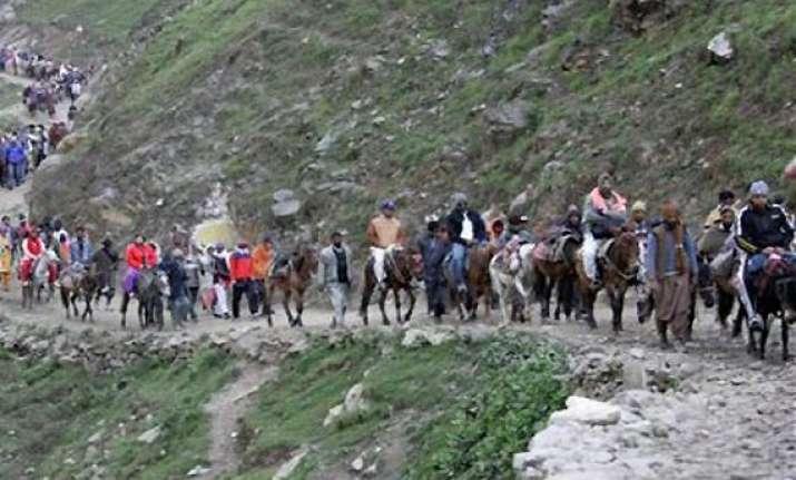 amarnath yatra first batch of pilgrims leave