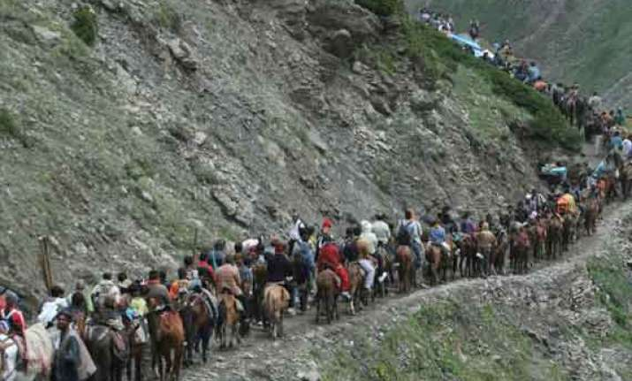 amarnath yatra resumes from baltal pahalgam routes