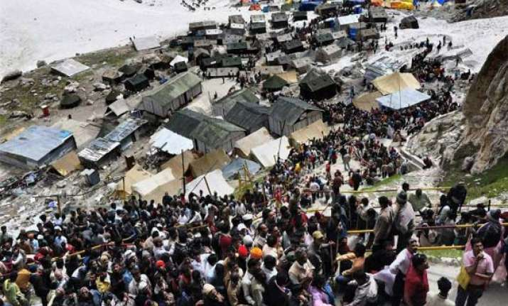 amarnath yatra suspended due to bad weather