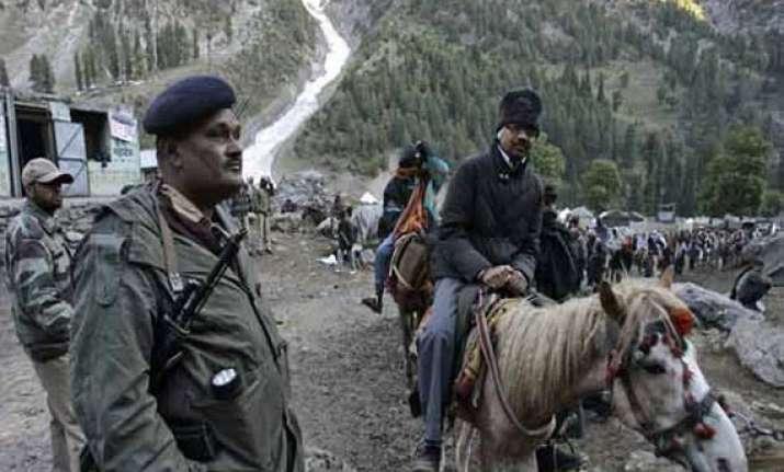 amarnath yatra under terror threat paramilitary forces