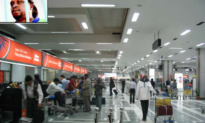 american without boarding pass was inside delhi airport