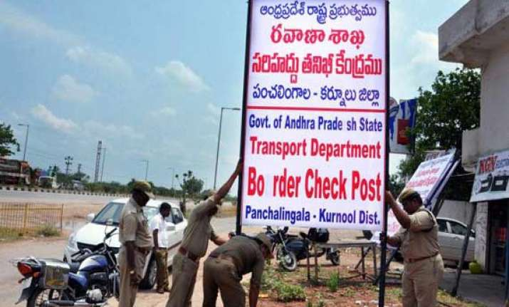 andhra pradesh to open checkposts on telangana border