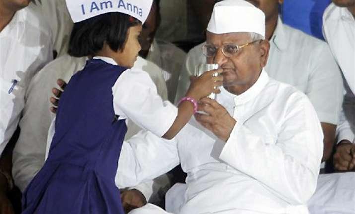 anna hazare calls off fast jail bharo stir called off