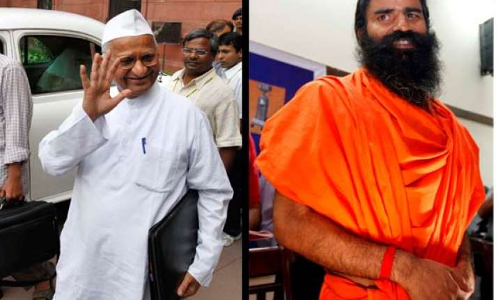 anna hazare puts conditions for ramdev joining his agitation