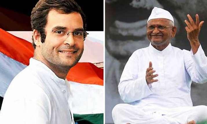 anna hazare says govt acting under rahul gandhi s pressure