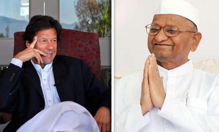 anna hazare should join politics says imran khan