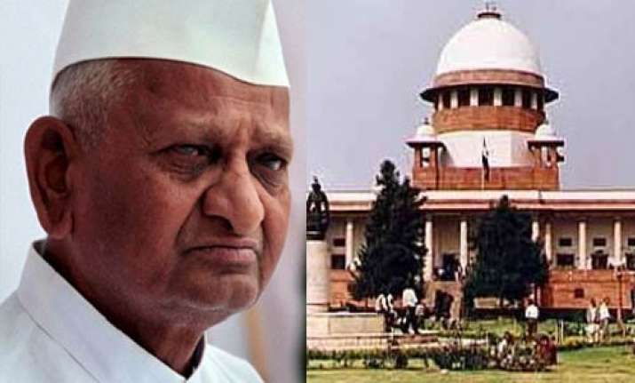 anna hazare wants to keep higher judiciary out of lok pal