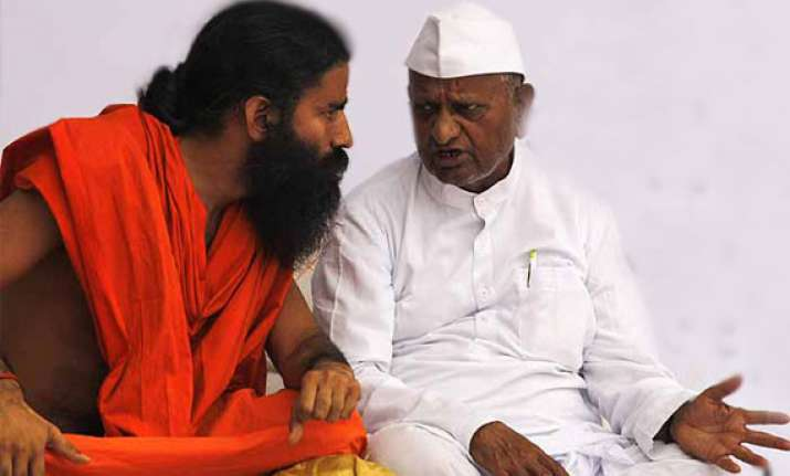 anna and ramdev to fast in delhi on sunday