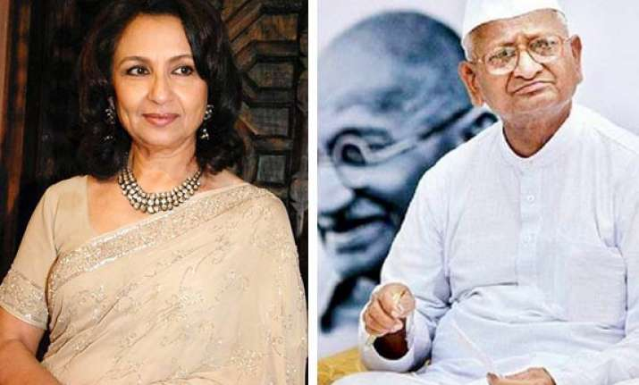 anna s fast was blackmail says sharmila tagore netizens