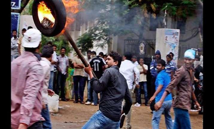 anti telangana protests in andhra pradesh turn violent