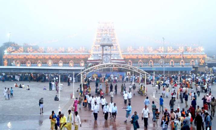 anti telangana stir hits lord balaji yatra