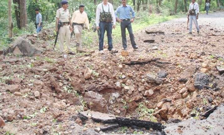 anti landmine vehicle escapes blast in chhattisgarh