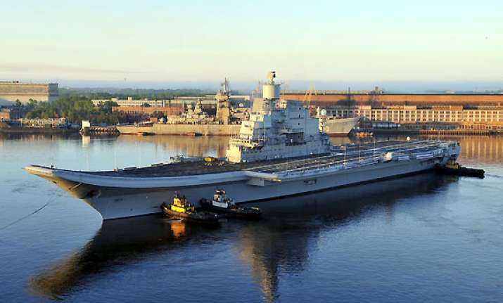 antony to induct ins vikramaditya into navy next month