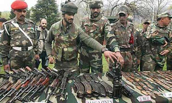 arms recovered in baramulla