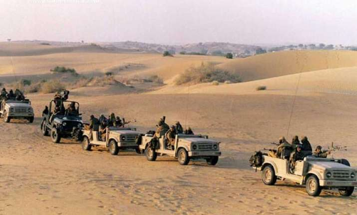 army holding strike corps wargames in rajasthan