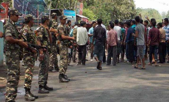 army on stand by curfew on in baksa three arrested