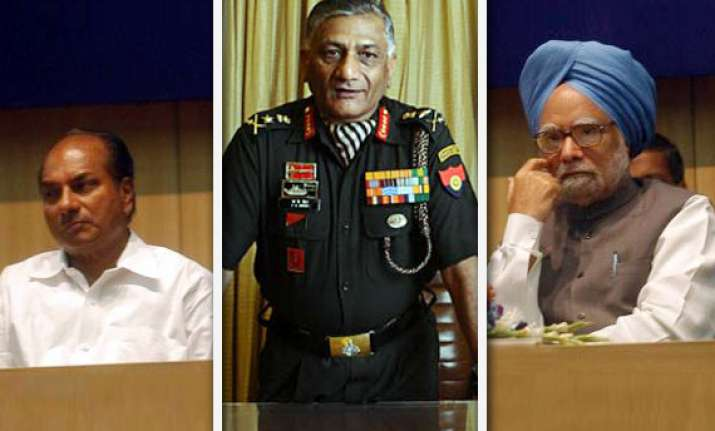 army chief age row antony meets pm defence secretary called