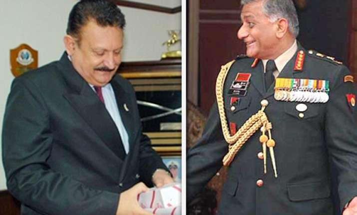 army chief names retd lt gen tejinder in bribery complaint