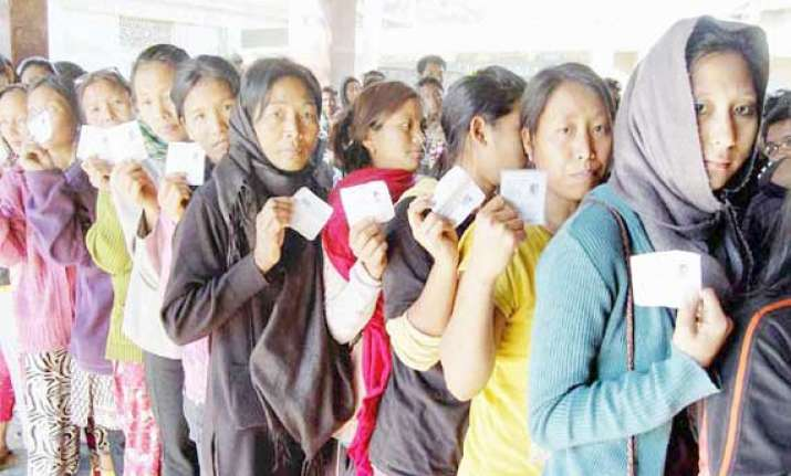 around 43.74 per cent turnout during re poll in nagaland