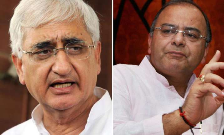 arun jaitley demands immediate sacking of salman khurshid
