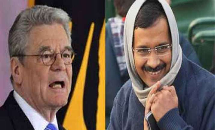 arvind kejriwal to meet german president on thursday