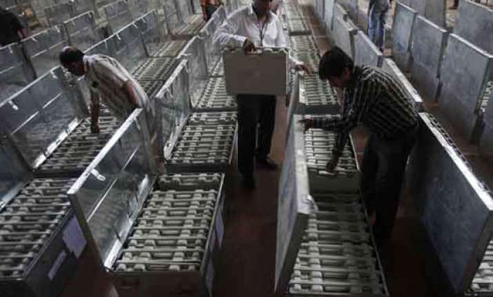 at least 38 evms replaced in three lok sabha seats in assam