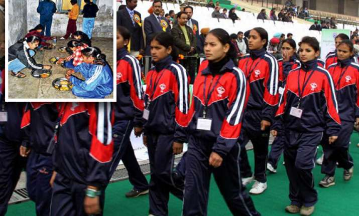 athletes at national school games sleep on schoolroom