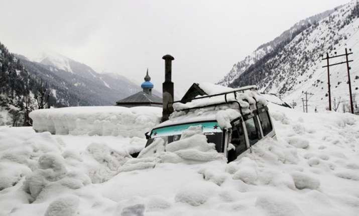 avalanche warning in kashmir valley